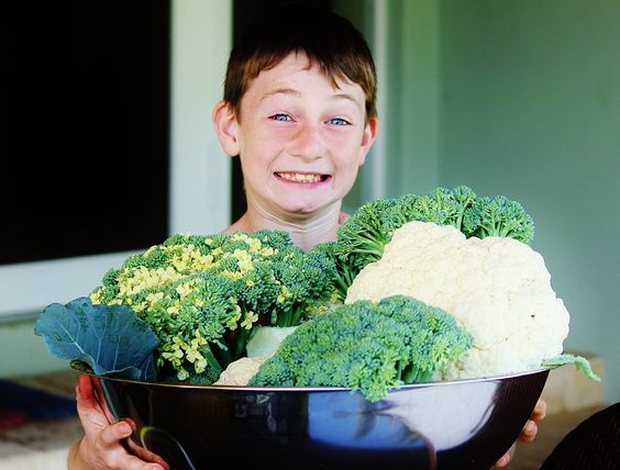 Kids LOVE gardening!  Look at this produce from an Easy Edible Landscapes raised bed garden! ~ Easy Edible Landscapes Miami