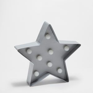 GRAY STAR LAMP