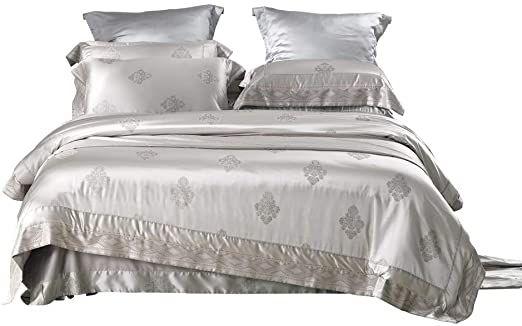 Ke Amp Le European Jacquard Down Comforter 1 Duvet Cover 1 Flat Sheet 2 Pillowcases Full Queen Size 4 Pcs Qu Down Comforter Duvet Cover Pattern Duvet Covers