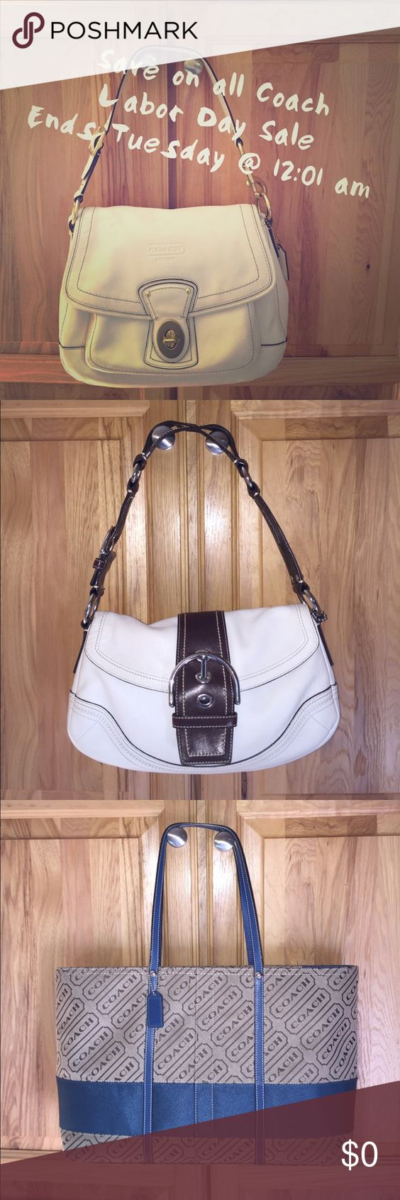 Coach on Sale All Coach bags on sale!! Coach Bags Shoulder Bags