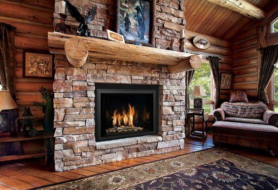 chimeneas diseño rustico elegante