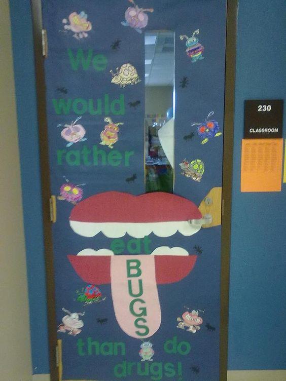 Classroom Decoration Inspiration : Red ribbon week door decorating inspiration enter your