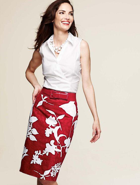Talbots Floral jacquard skirt - love it!