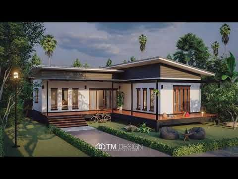 10 Modern L Shaped Houses You Will Admire Floor Plans Budget Estimates Youtube House With Balcony Modern Bungalow House L Shaped House
