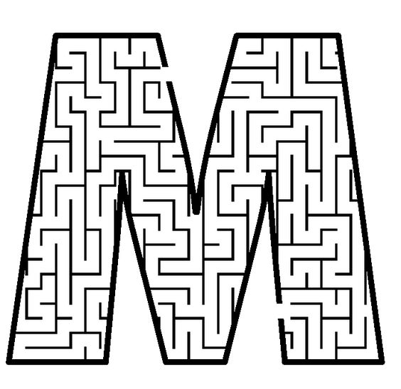 coloring pages mazes letter - photo#24