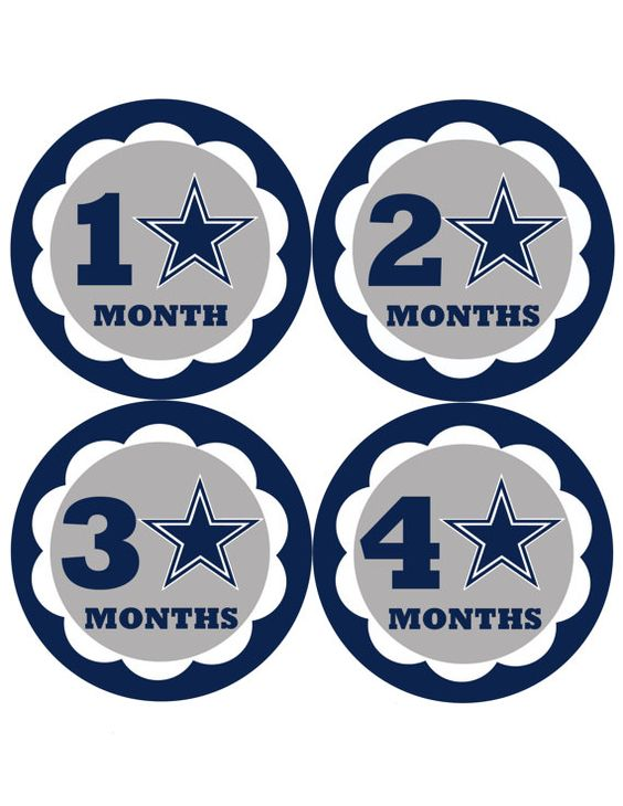 Instant Download Dallas Cowboys Monthly Stickers Month by DigiLife