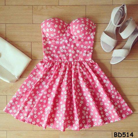 Pink Floral Bustier Dress – Sassitude - Style inspiration ...