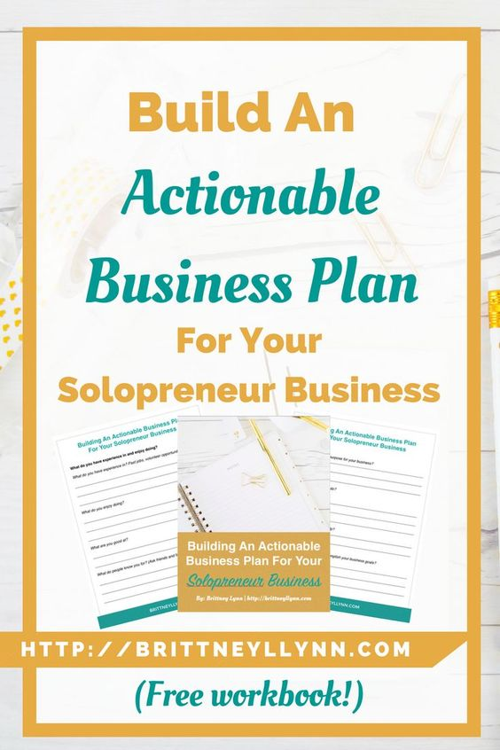 Building An Actionable Business Plan For Your Solo Business Posts - business plans template