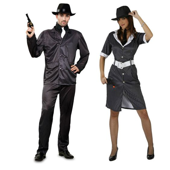 Costumes pour couples Gangsters #DéguisementsCouples #OutletDéguisements #OutletCostumes