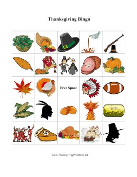 Thanksgiving bingo with these free, printable themed cards is great for family dinners or young student class activities. They have lots of festive pictures of turkey, leaves and pilgrim hats. Free to download and print