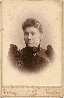 Ida May (Trowbridge) Newby circa 1892, age 19.
