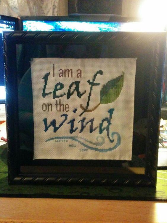 I am a leaf on the wind... Watch how i soar