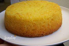 Bizcocho de naranja sin huevo ni gluten ni lactosa
