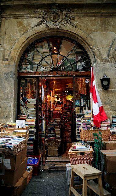 The Abbey Bookshop, Paris, France, great bookstore, got a copy go Pride and Prejudice there!