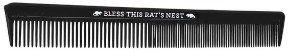 SOURPUSS BLESS THIS RAT'S NEST COMB $4.00 #sourpuss #sourpussclothing #comb #rockabilly #dapper