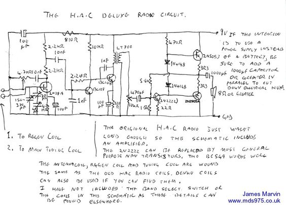 James marvins hac trf radio schematic circuit diagram radio 1 james marvins hac trf radio schematic circuit diagram radio 1 pinterest circuit diagram and diagram ccuart Gallery