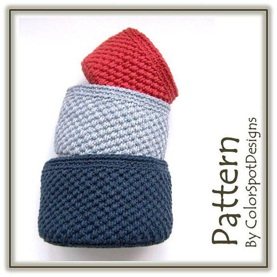 Round Cotton Storage Baskets Crochet Pattern von ColorSpotDesigns