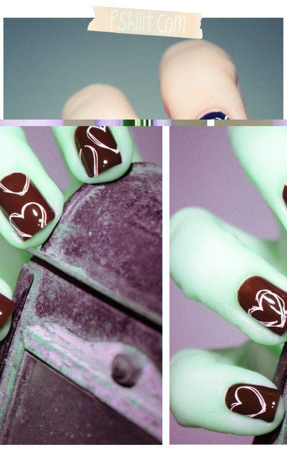 Heart nails! (Bourjois - Bleu Violet)