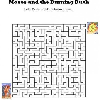 Printables Printable Bible Worksheets kids bible worksheets free printable moses and the burning bush maze mazes pinterest ojays search w