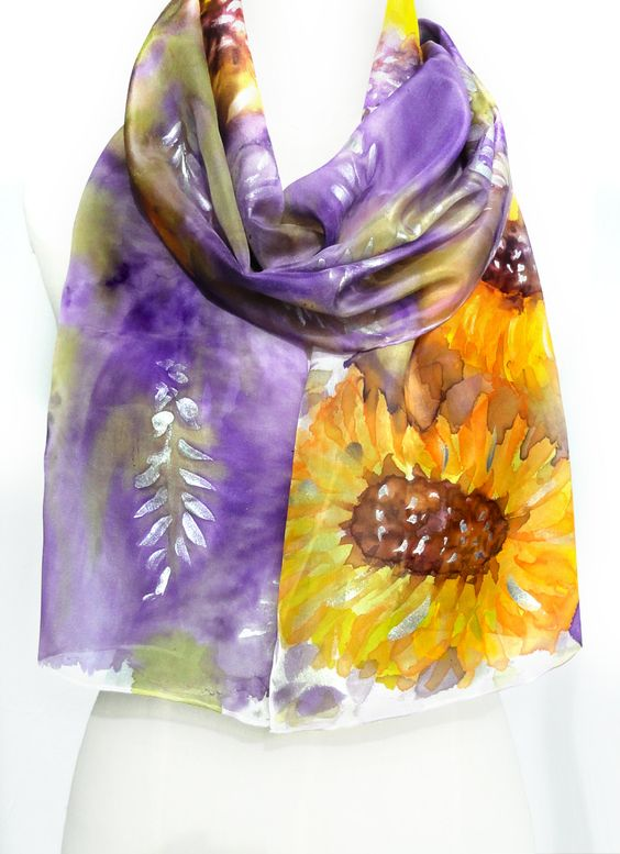 Like this item Hand Painting Silk Scarves How To