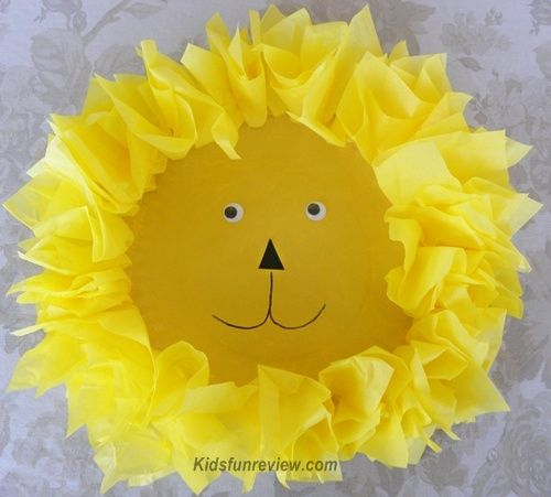 paper plate lion craft