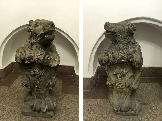 Два медведя – одни из самых ценных экспоната собора. Фото: Evgenia Shveda