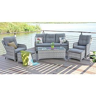 Baidani Gartenmobelset Fortune 19 Tlg 6 Sessel Tisch O 150 Cm Poyrattan Kaufen Baur Lounge Sessel Garten Lounge Mobel 2er Sofa