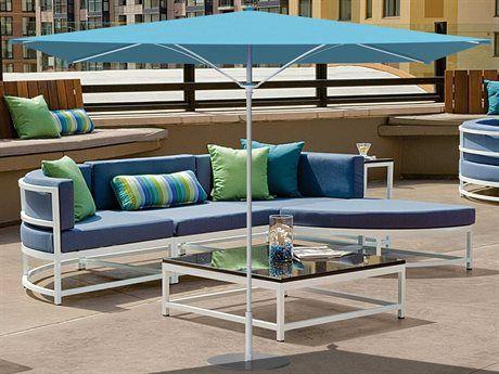 Tropitone Trace 10 Aluminum Square Umbrella In 2021 Elegant Outdoor Furniture Cast Aluminum Patio Furniture Modern Patio Furniture