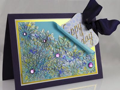 The Pampered Stamper: Dreamweaver Stencils: A Birthday Party for Losing Weight? Hmmmm...created by Pam Hornshcu