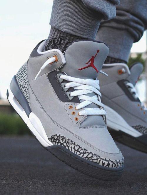Air Jordan 3 Retro LS 'Cool Grey' 2006 in 2021 | Jordan shoes ...