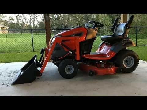 Home Made Garden Tractor Bucket Loader Youtube Small Garden Tractor Garden Tractor Tractors