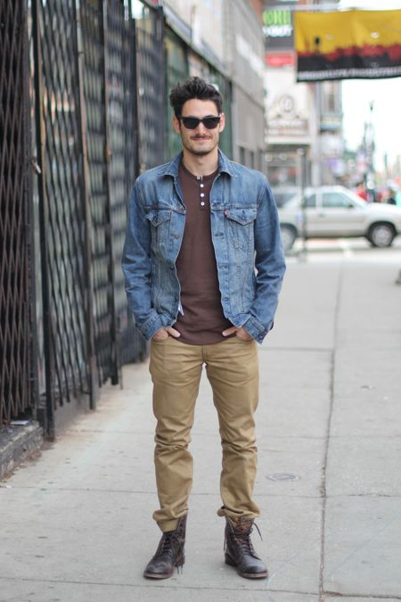 khaki pants with boots - Pi Pants