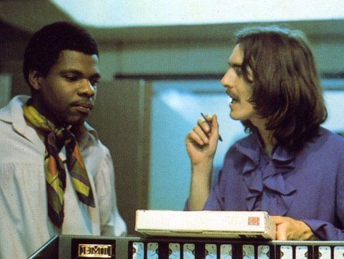 Billy Preston and George Harrison, 1969