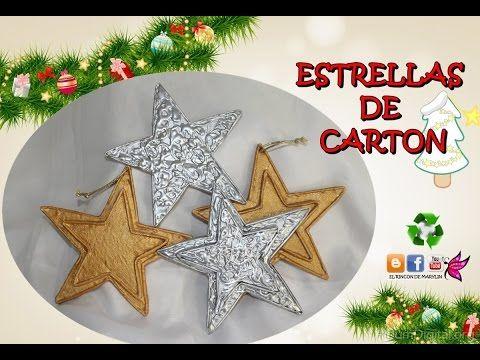 Estrellas De Navidad Para Decorar.Como Hacer Estrellas De Carton Decorar El Arbol De Navidad