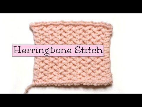 Herringbone stitch video tutorial by the lovely PinkLady Knits Technique ...