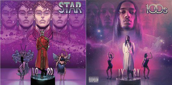 """Star-Lord # 1 variante de Hip Hop por Tradd Moore (líneas) y Val Grapas (colores), homenaje a 100s """"IVRY"""""""