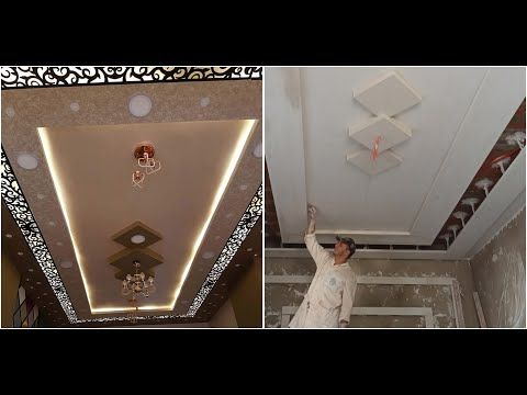 طريقة تركيب جديد احدث ديكور صلون بي جبس المغربي وخشب ليزر Sns من صفر Youtube Bathroom Mirror Lighted Bathroom Mirror Bathroom Lighting