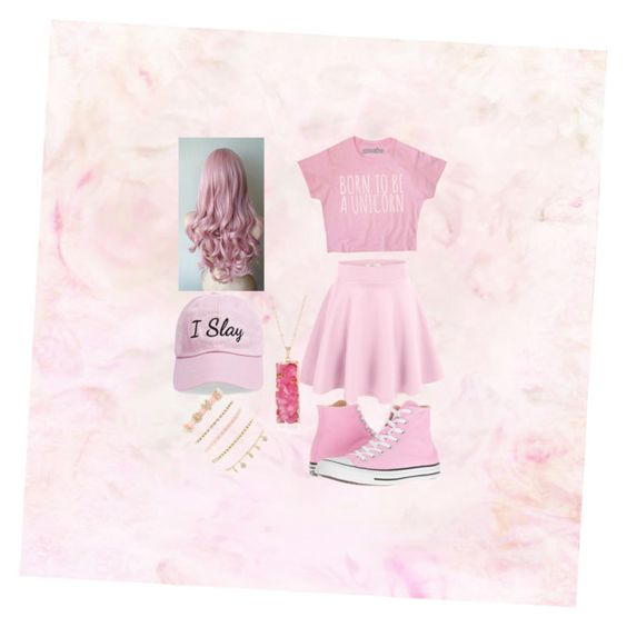 """Pretty in Pink💗"" by jae-abernathy ❤ liked on Polyvore featuring Converse, Steve Madden and Charlotte Russe"