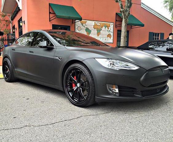 ⚡️Black Matte Tesla Model S P90D⚡️ #TheElectricCar #tesla @teslamotors #P90D