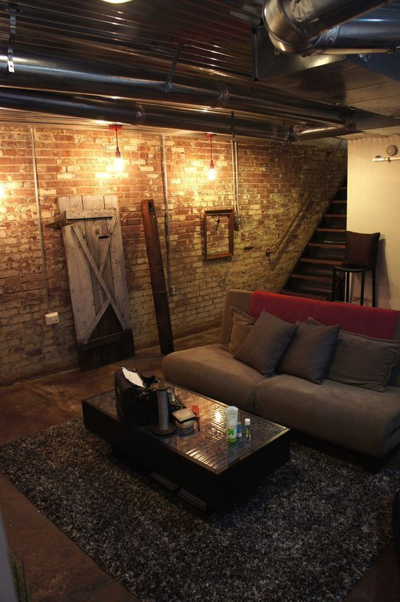 Unfinished Basement Ideas Suggestions For An Unfinished Cellar That Ll Turn This Additional Square Video Fo Cozy Basement Basement Design Industrial Basement