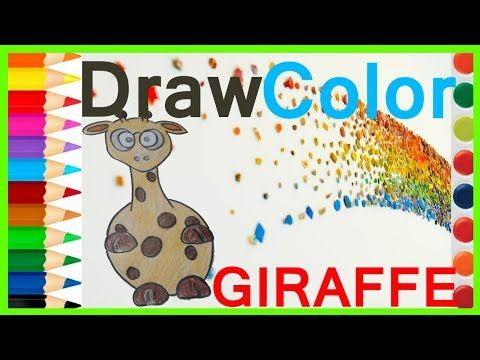 Giraffe Drawing For Kids Drawing Videos Colors For Kids Coloring Videos Coloring Videos For Kids Youtube Come Rhymes For Kids Abc Alphabet Song Kids Poems