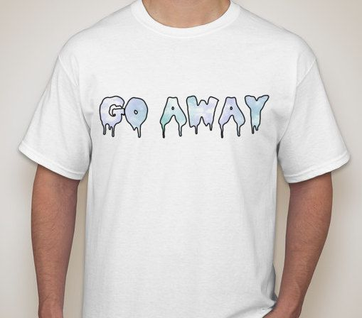 Go Away Tumblr Transparent T-Shirt