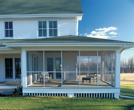 Porches Screened In Porch And A House On Pinterest