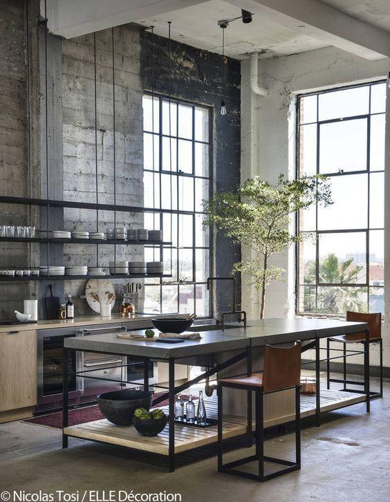 46 Attractive Industrial Kitchen Ideas That Will Amaze You Zyhomy Industrial Decor Kitchen Vintage Industrial Furniture Vintage Industrial Decor