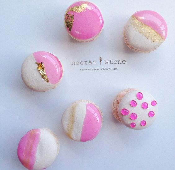 Electric Pink Macarons by Nectar & Stone: