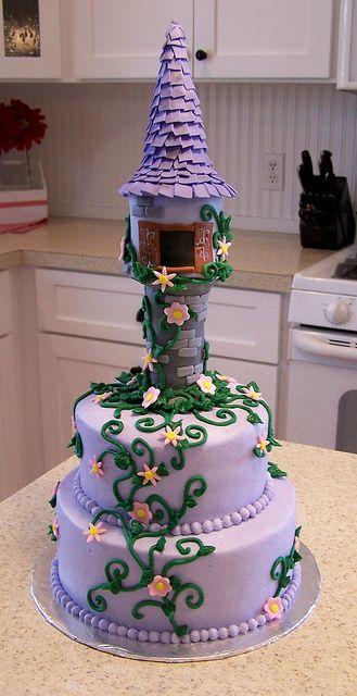 Tangled cake by Joy of Cake #disney #rapunzel