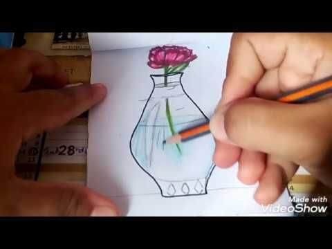 Dessiner Un Vase Etape Par Etape 3 رسم مزهرية سهلة بمراحل جد واضحة Youtube My Drawings Vase The Creator