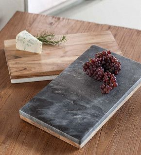 Marble Acacia Reversible Prepping And Serving Board Serving Board Wood Serving Board