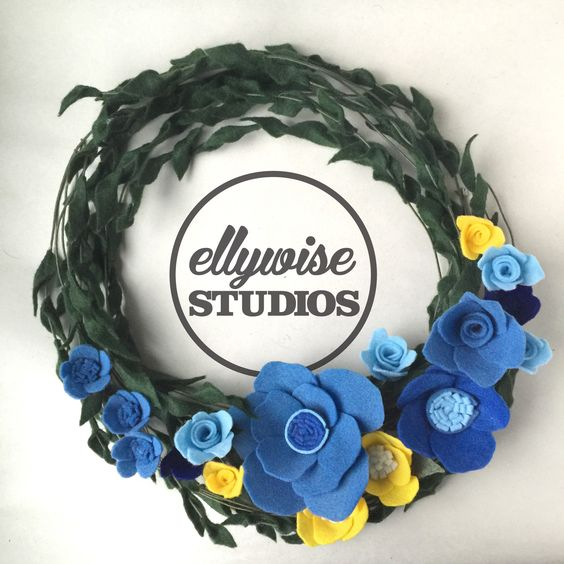 What kind of Memphian would I be without a grizz wreath ??? grizzlies memphis felt flowers ellywise studios handmade