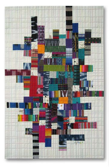 Grid #2 by Liz Kuny, contemporary quilt artist
